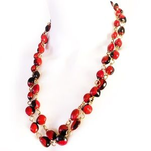 RARE 1970s endangered coral seed botanical jewelry